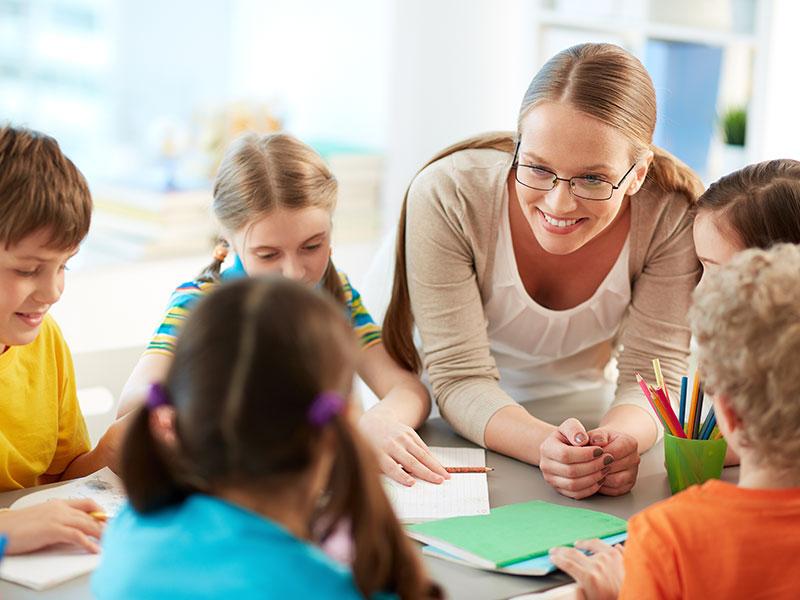 Teacher-and-kids